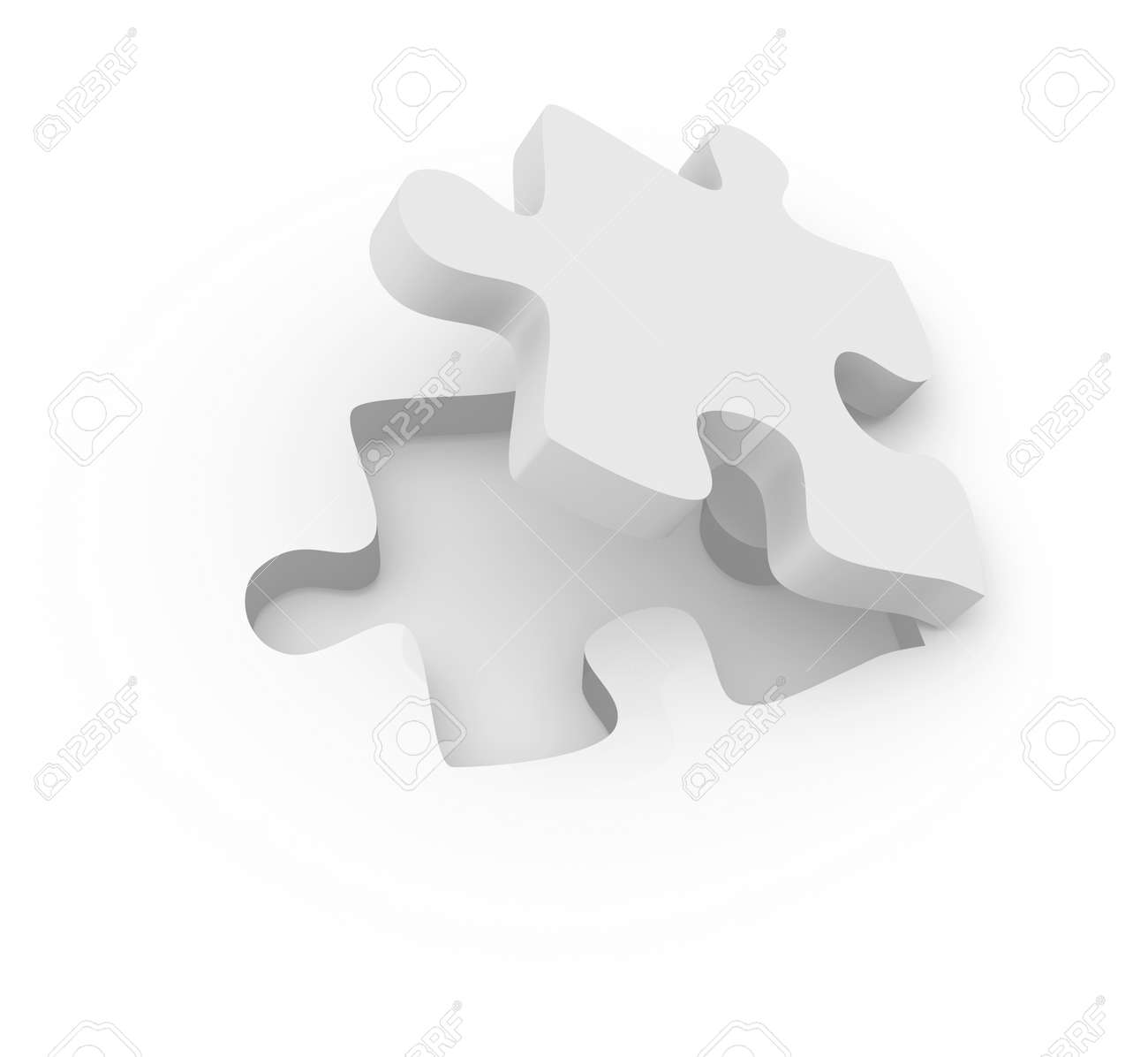 Puzzle Piece 3d Rendered Image Stock Photo