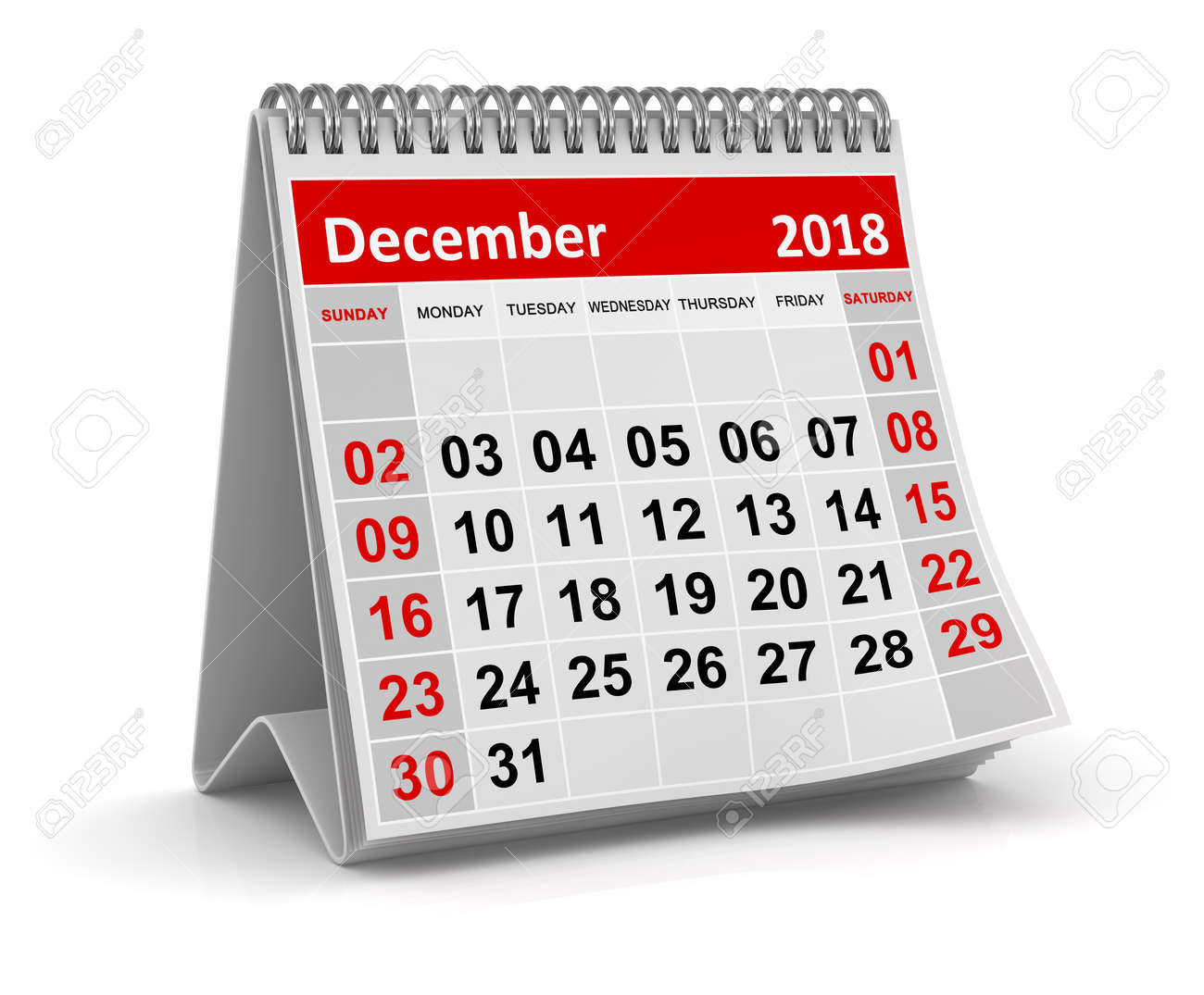 December 2018 , This is a 3d rendered computer generated image. Isolated on white. - 92119290