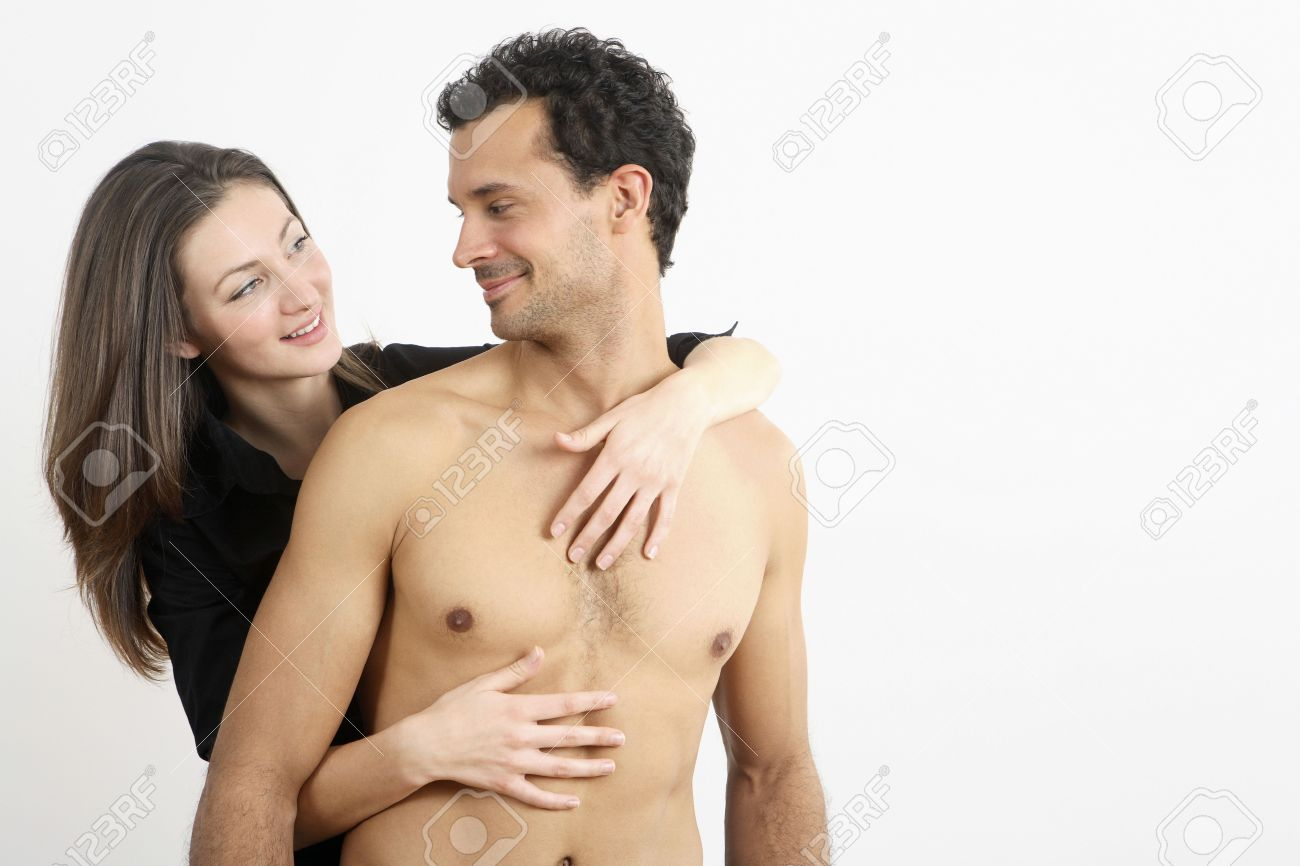 Woman hugging man from behind Stock Photo - 2966247