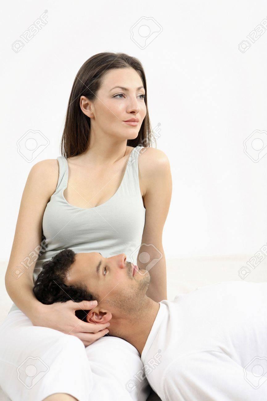 Man lying on woman's lap Stock Photo - 2966259