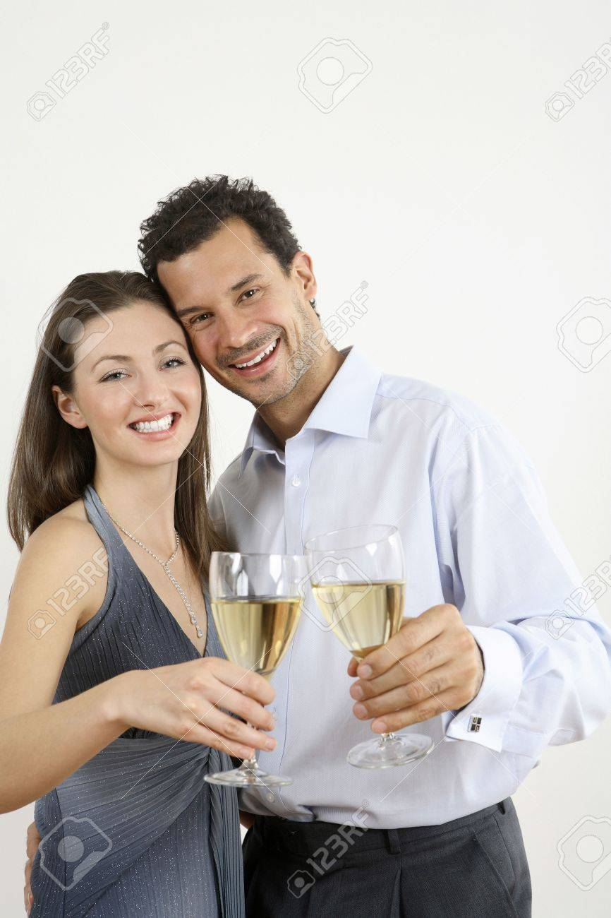 Man and woman toasting with champagne Stock Photo - 2966285