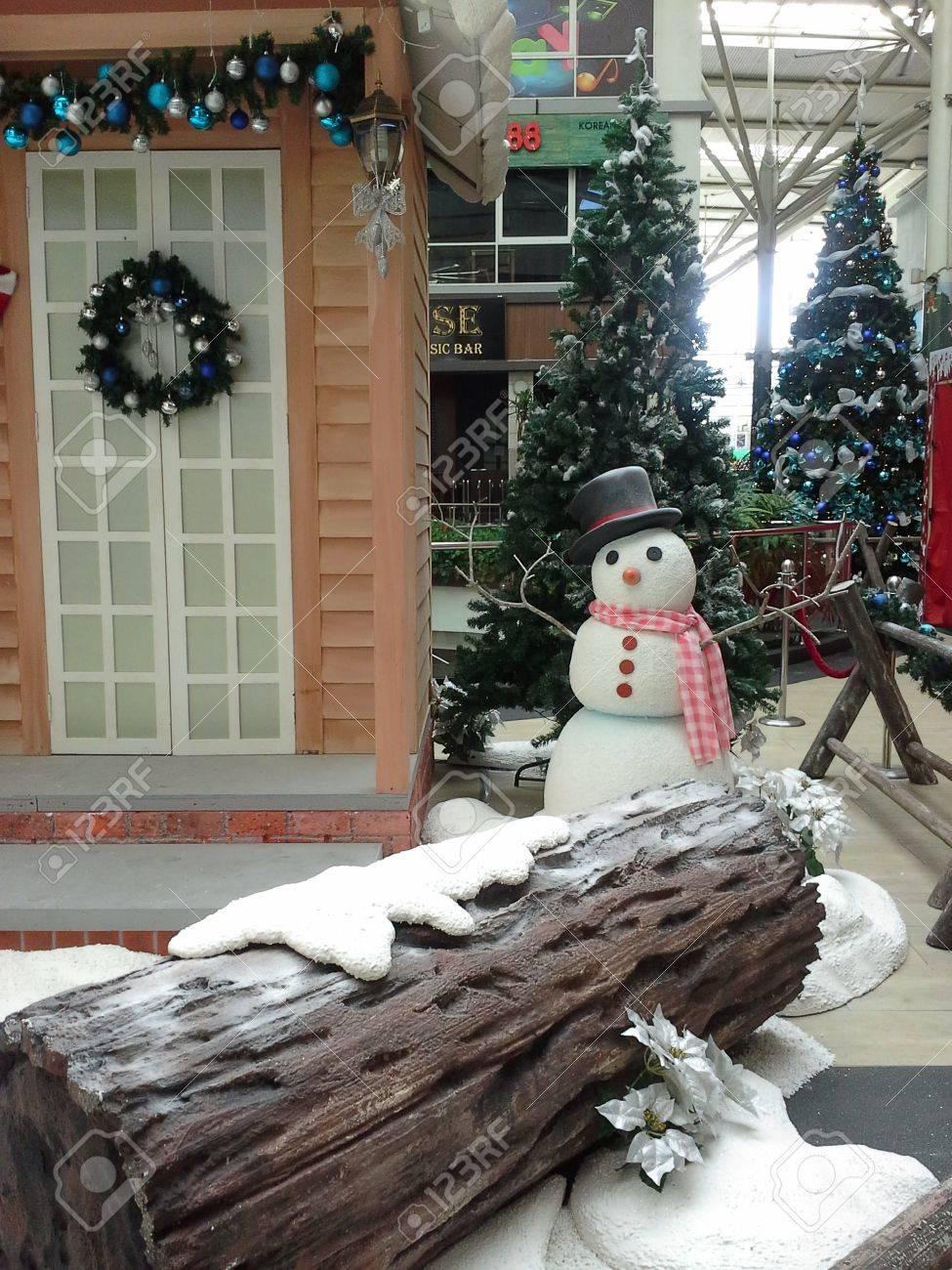 christmas snow village decoration stock photo 24002346