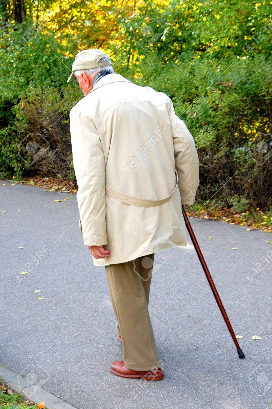 Senior walking in the park Stock Photo - 1843107