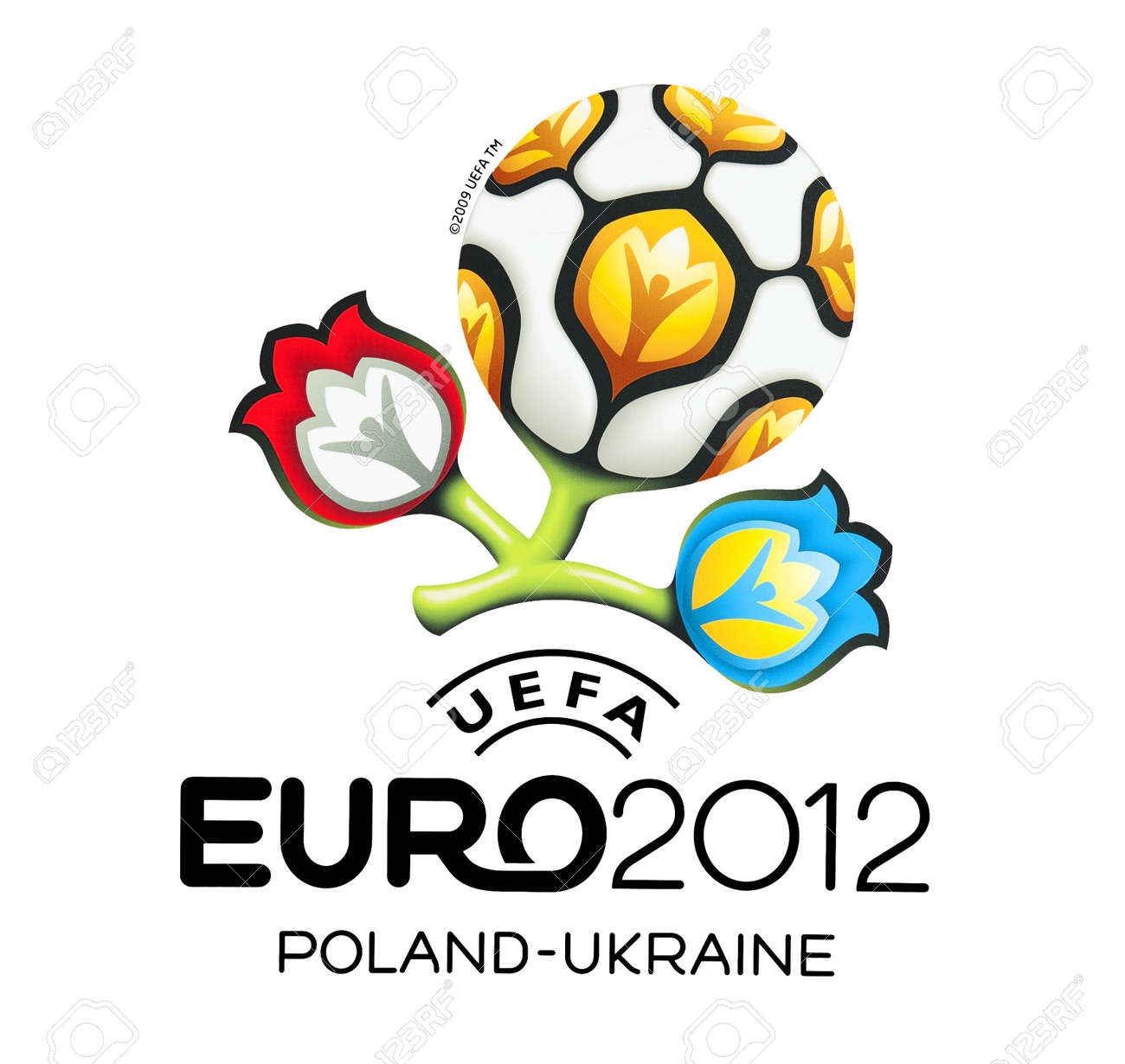 GDANSK, POLAND - MAY 1: Official logo for UEFA EURO 2012, Gdansk, Poland, May 1, 2012 Stock Photo - 13669357