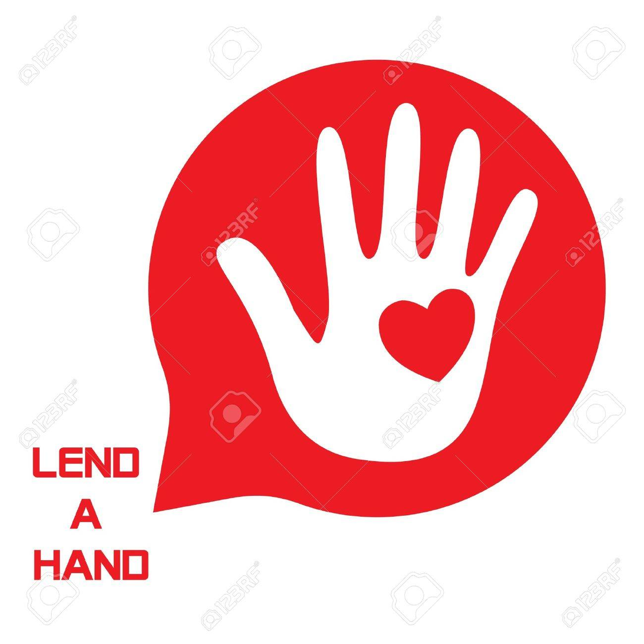 Lend a Hand Logo for Tsunami Relief Efforts Charity Drive 2011, Japan Stock Vector - 9085258