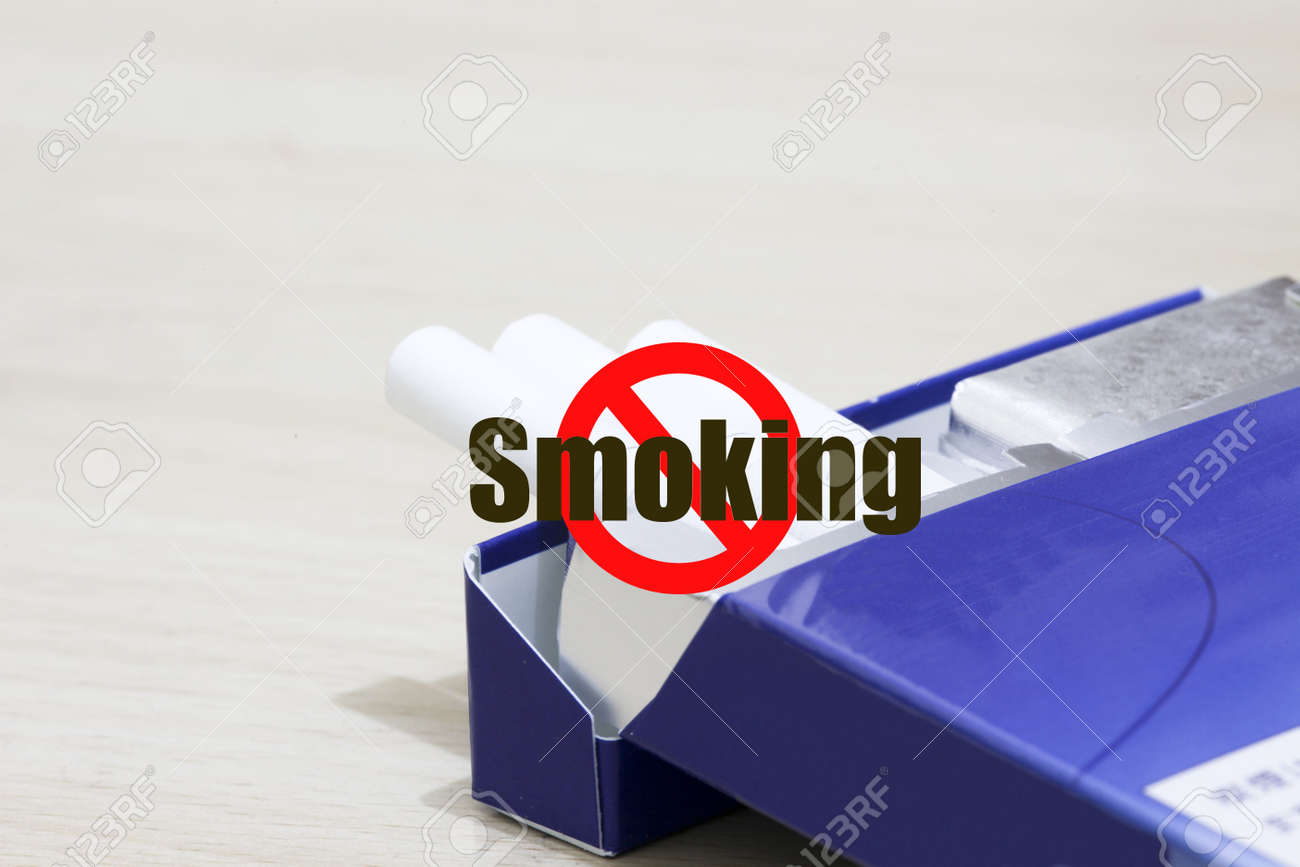 the cigarette on the table. Stock Photo - 4735342