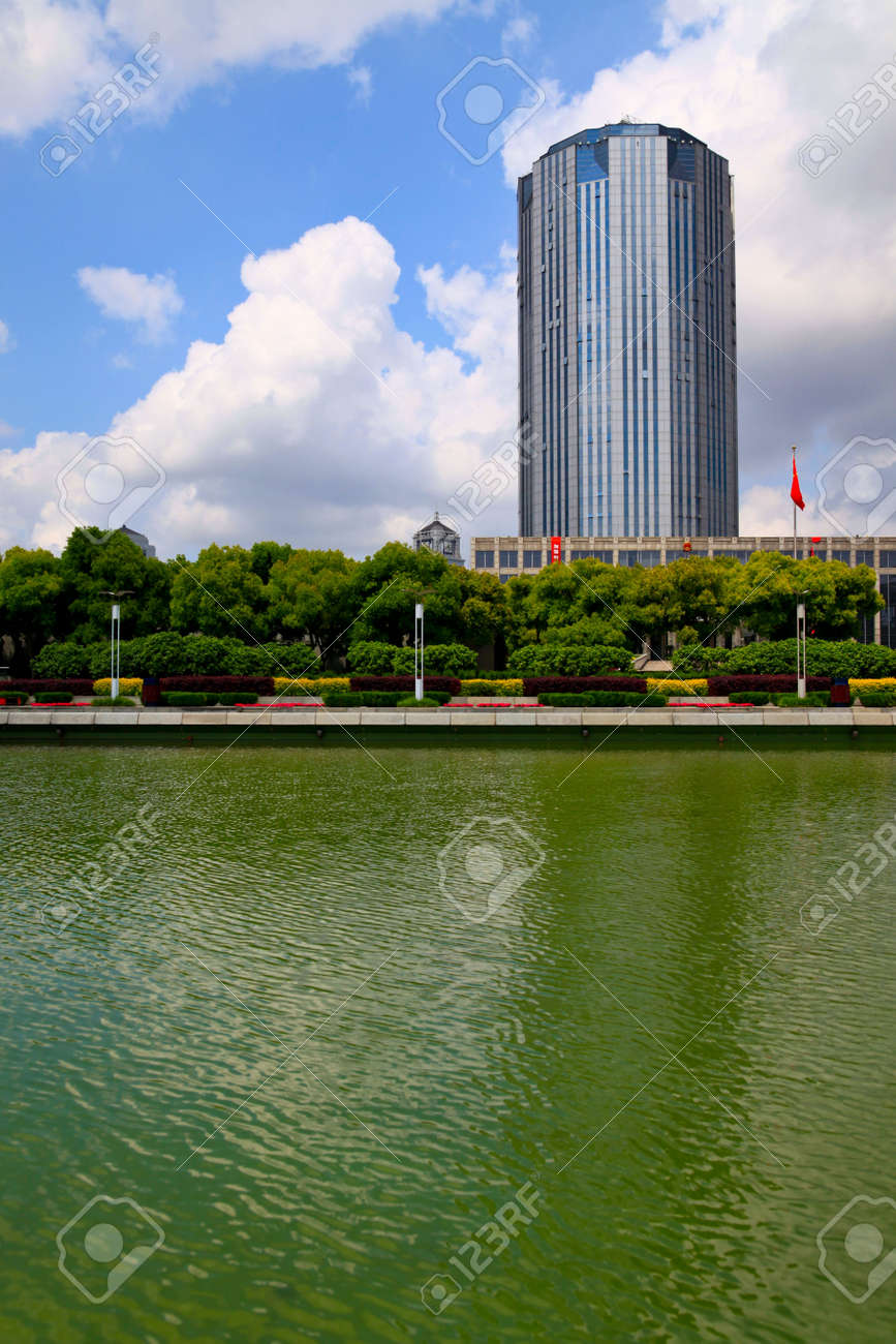 the scene of the century squre pudong shanghai china. Stock Photo - 5079825
