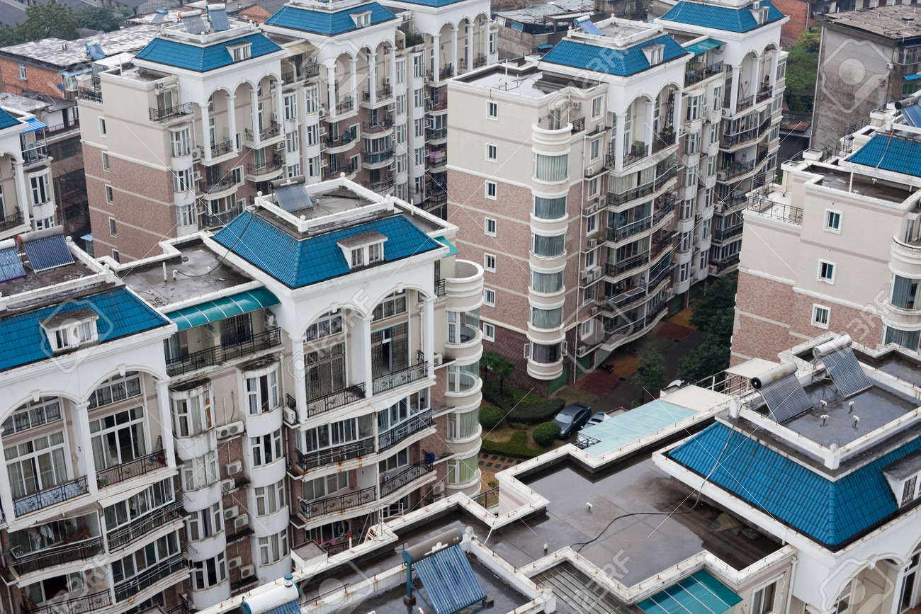 bird's  eye view the housing of a city in china. Stock Photo - 5928972