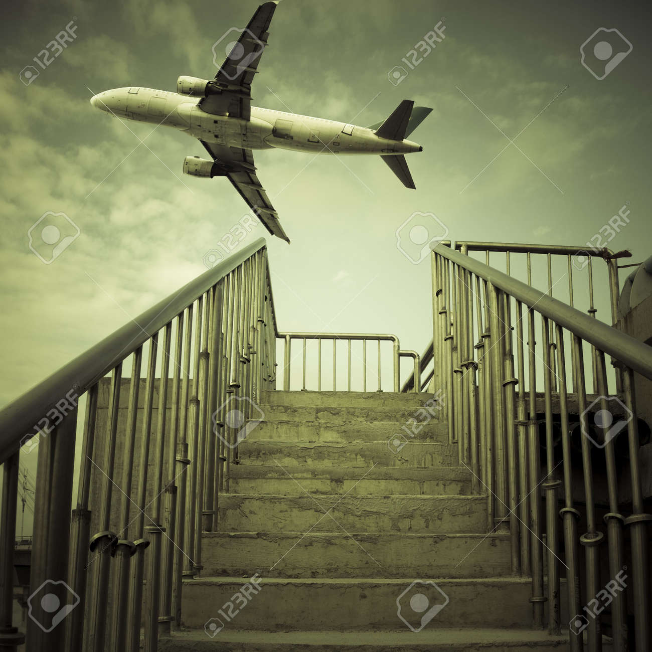 stair to the sky. background of a bridge outdoor. Stock Photo - 6087922