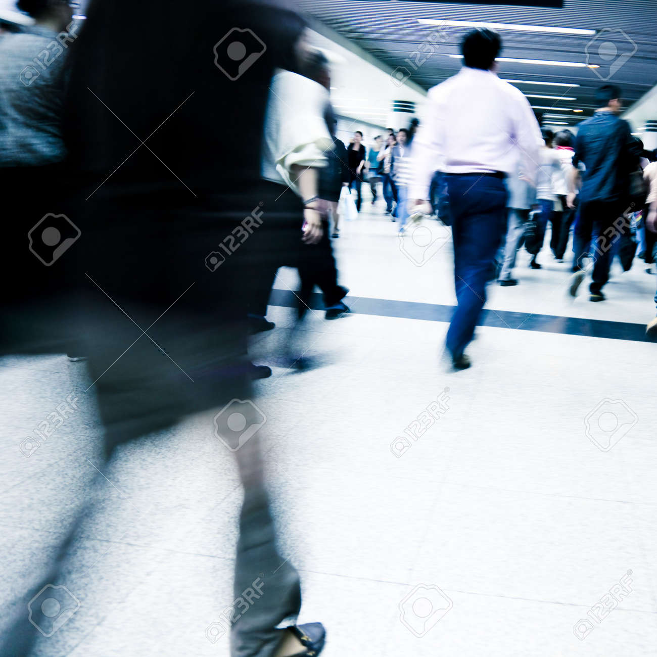 passenger in the shanghai pudong airport.interior of the airport. Stock Photo - 6485616