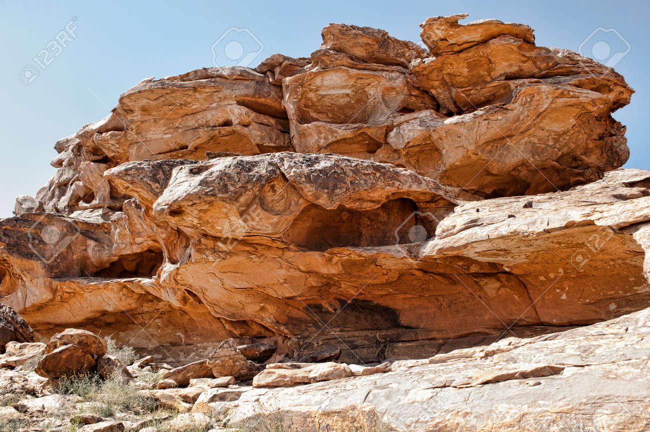 Rock With Cave Paintings Near Tifariti In Western Sahara Stock Photo Picture And Royalty Free Image Image 38617227