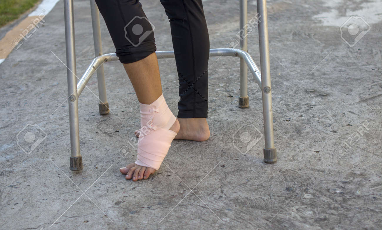 Volunteers Are Provided To Patientankle Wrap Elastic Bandage