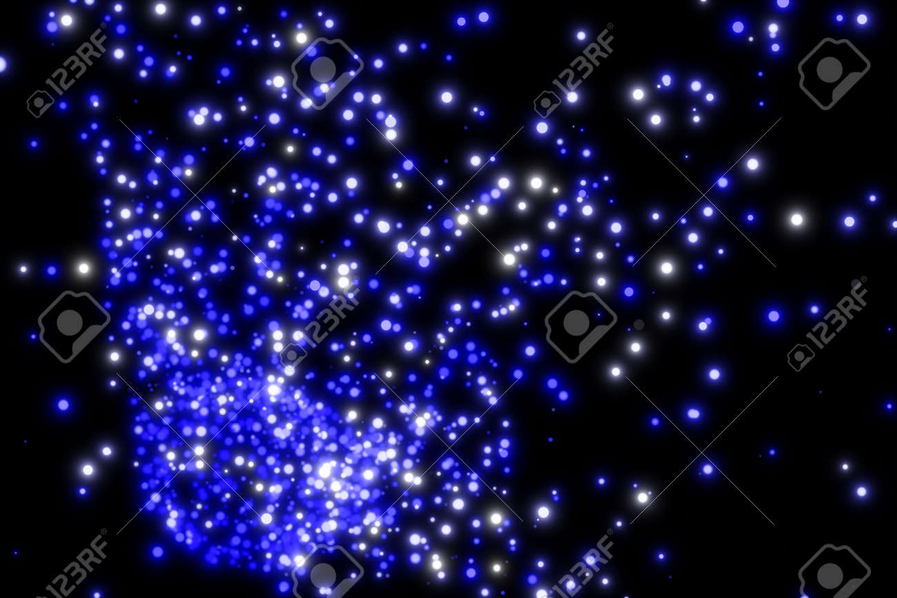 Beautiful Colour Of Abstract Particles On Dark Background Images Stock Photo Picture And Royalty Free Image Image 132445847