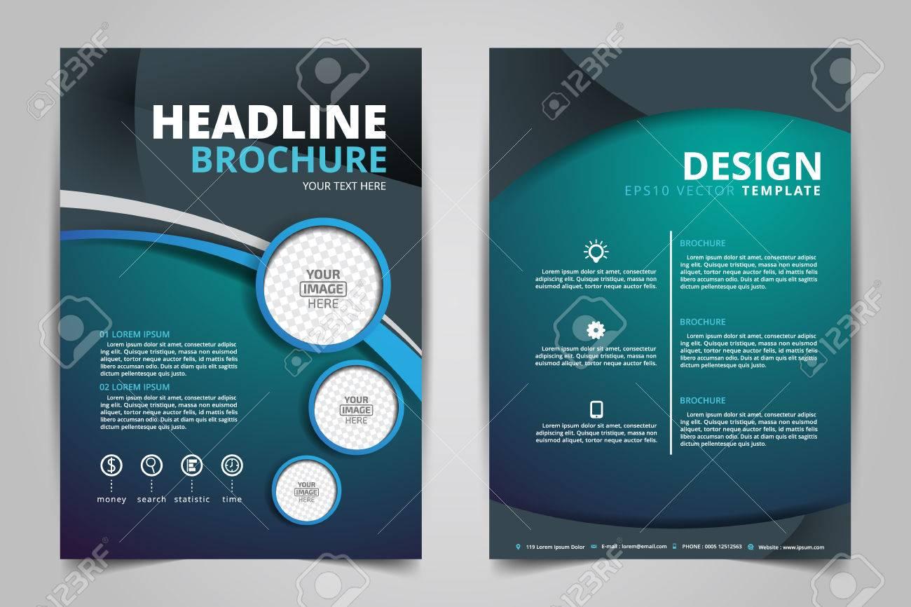 Resume Vecteur Prospectus Modernes Brochure Rapport Annuel