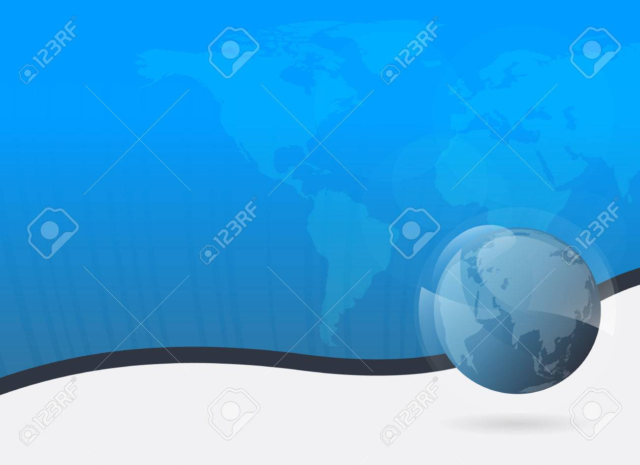 Business background light blue 3d globe and world map with business background light blue 3d globe and world map with blue shiny backdrop vector illustration gumiabroncs Gallery