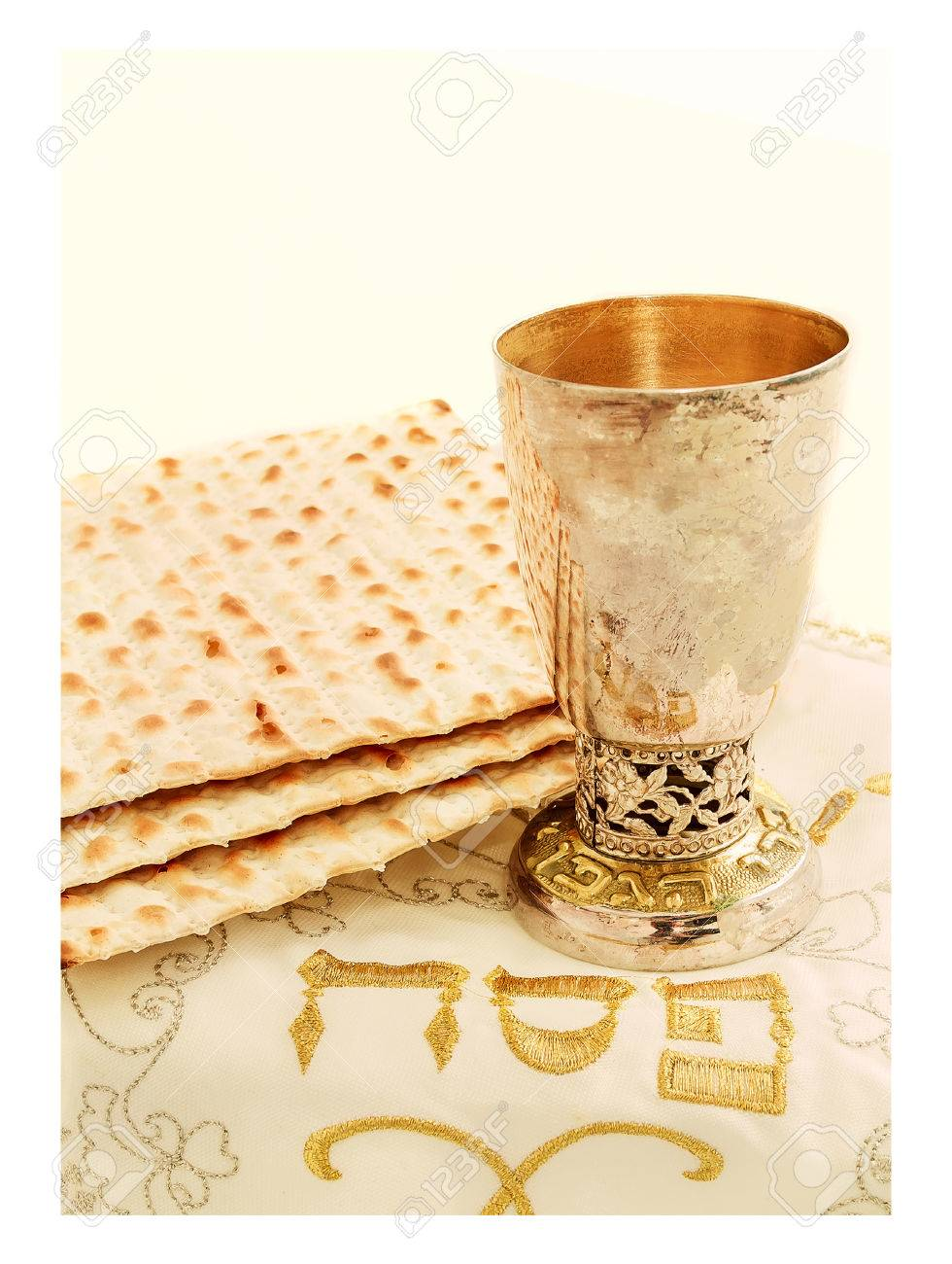 The Symbols Of The Feast Of The Passover Matzah The Cup With