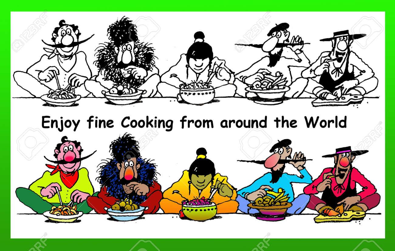 Disegno cucina internazionale : 1-2-3 Scavare! Cucina Internazionale Foto Royalty Free, Immagini ...