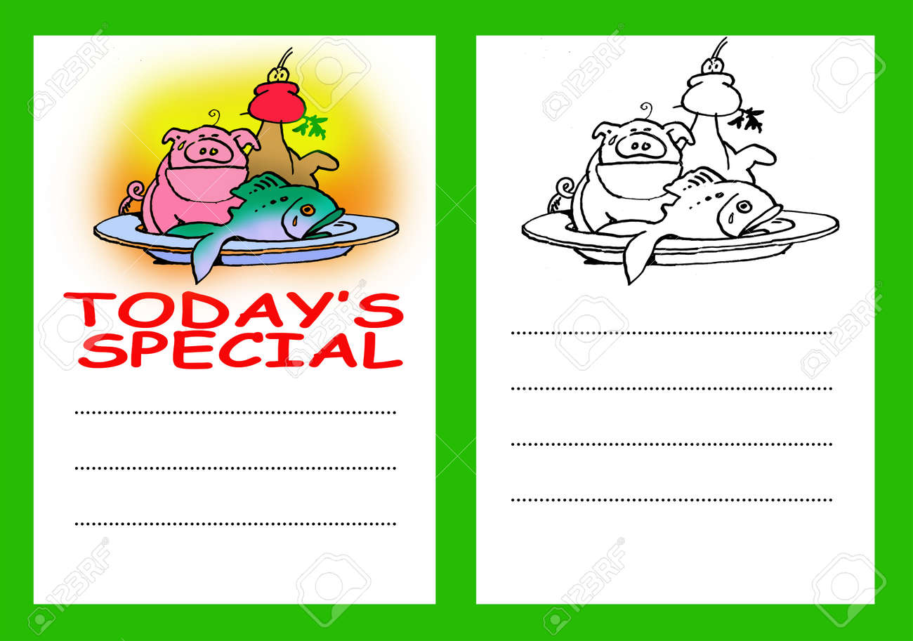today u0027s special menu card stock photo picture and royalty free