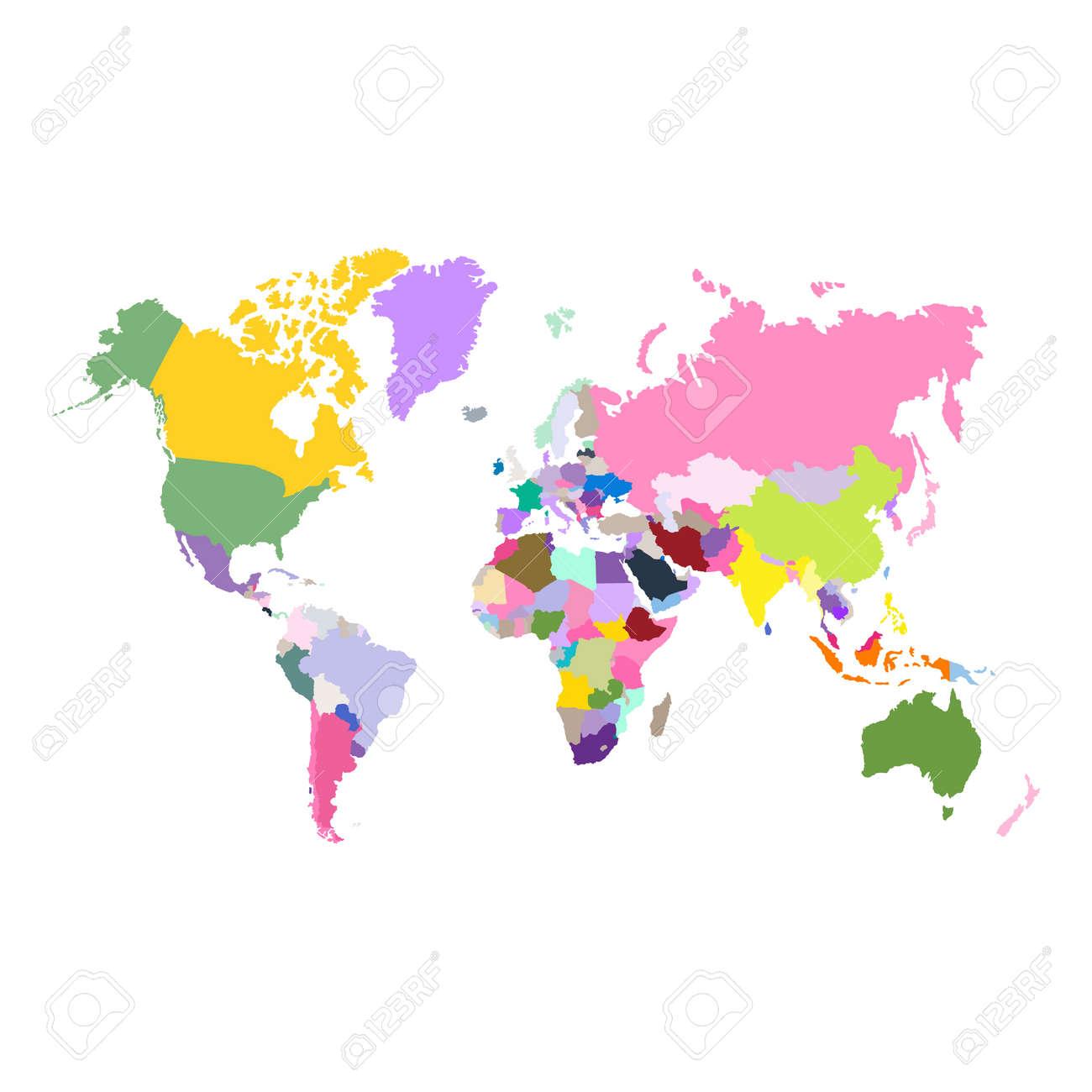 Vector political world map - 123256082