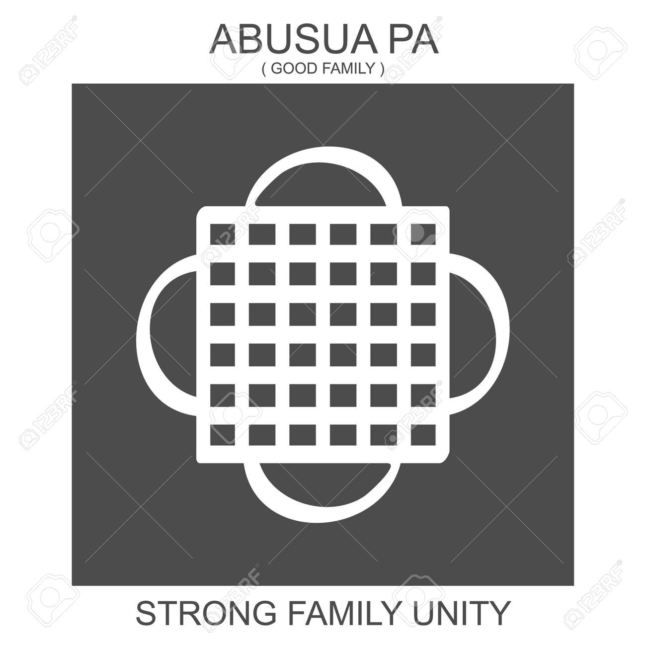 Vector Icon With African Adinkra Symbol Abusua Pa Symbol Of Royalty Free Cliparts Vectors And Stock Illustration Image 153555558
