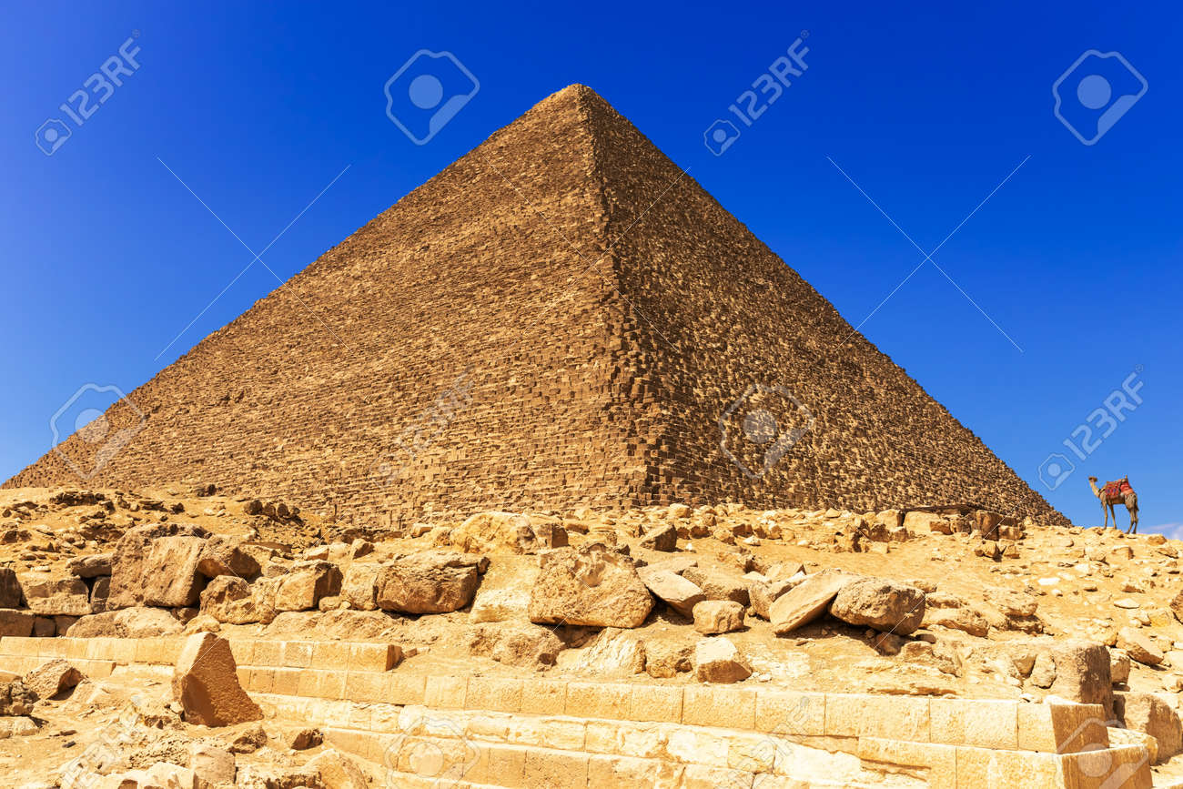 The Great Pyramid of Cheops in Giza, Egypt - 120701570