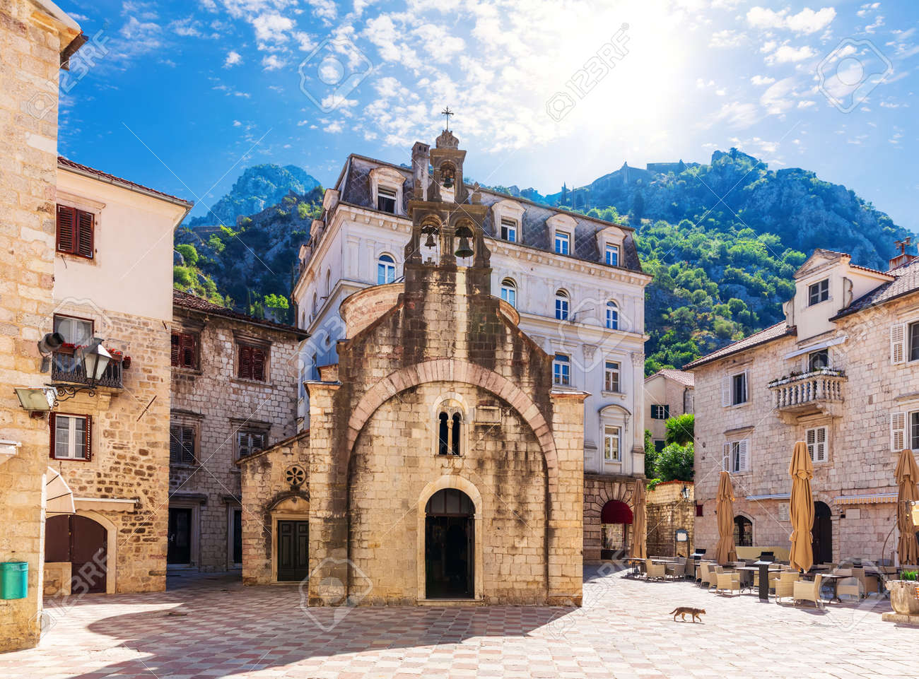 Saint Michael Church in the Old Town, Kotor, Montenegro. - 159181016