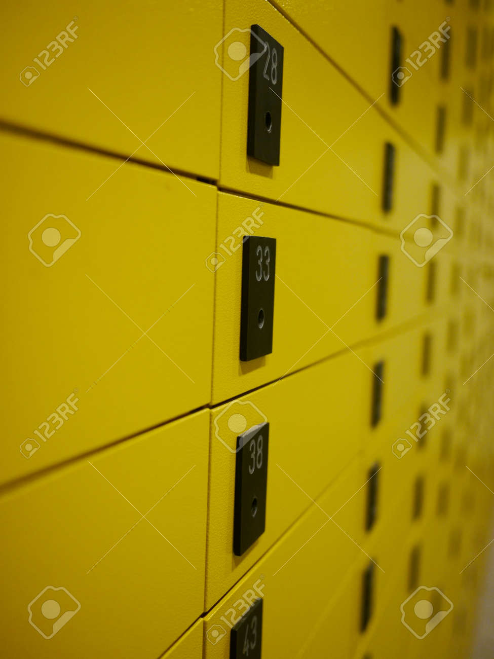 yellow private mail boxes at a post office in Croatia Stock Photo - 9143855