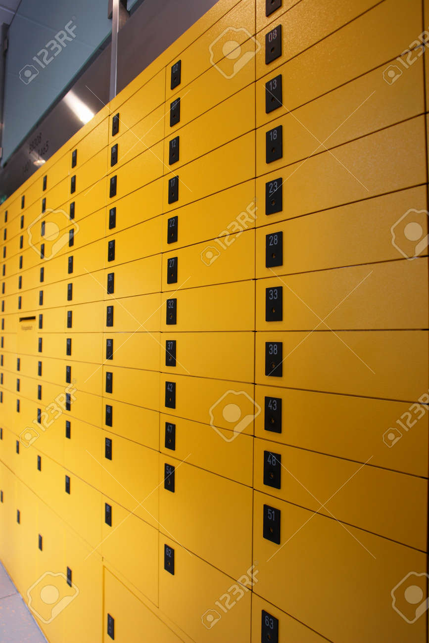 yellow lockboxes Stock Photo - 14340655