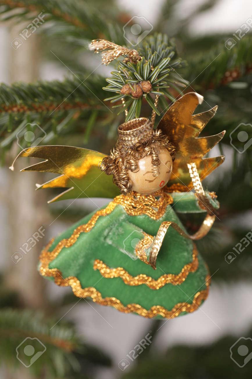 German Christmas Ornaments.German Christmas Tree With Homemade Christmas Ornaments
