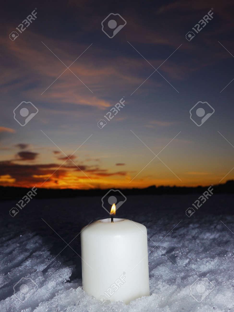 Kerzen Für Draußen.Stock Photo