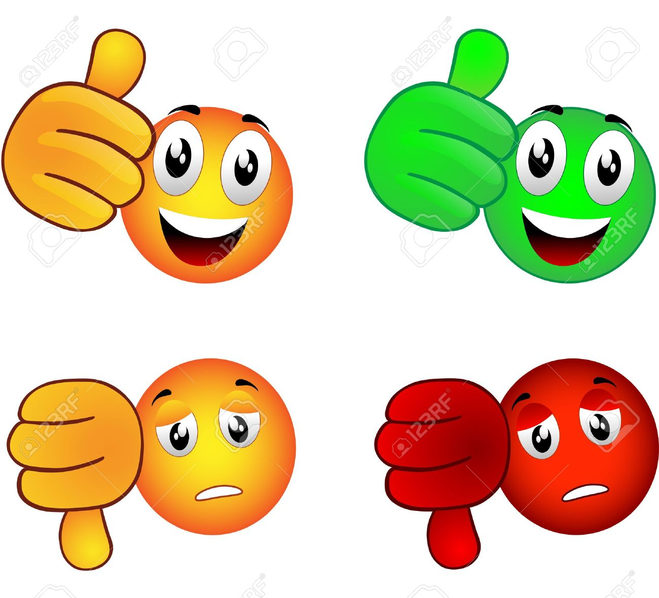 Smiley which raises the inch Stock Vector - 20440101