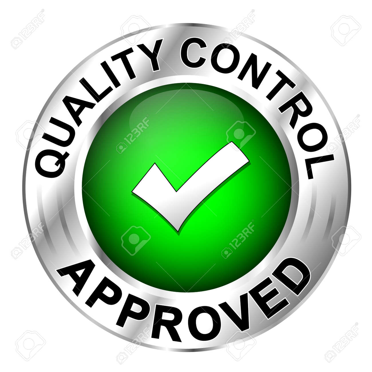 icon quality control approved royalty free cliparts vectors and