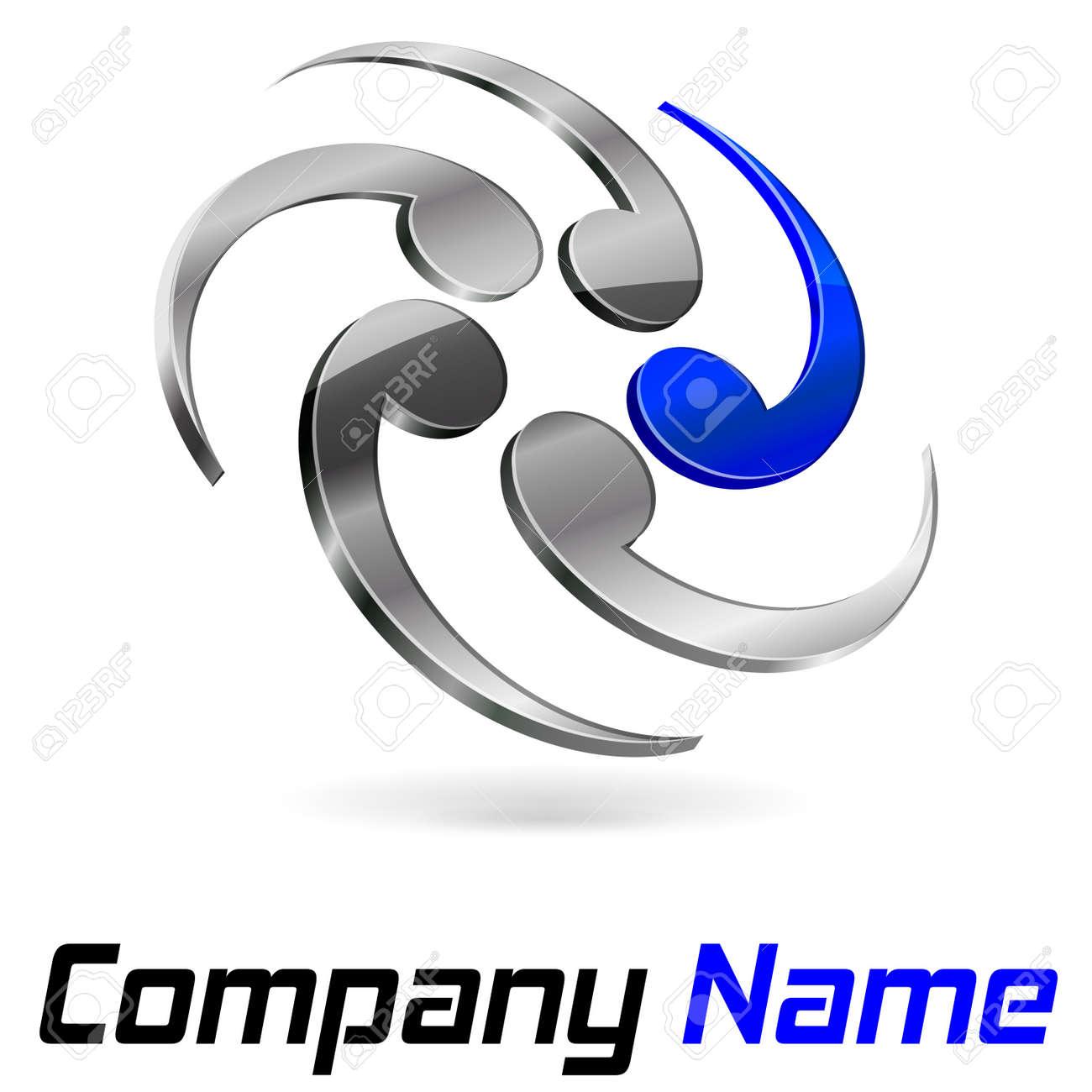 Logo 3d branding Stock Vector - 21322401