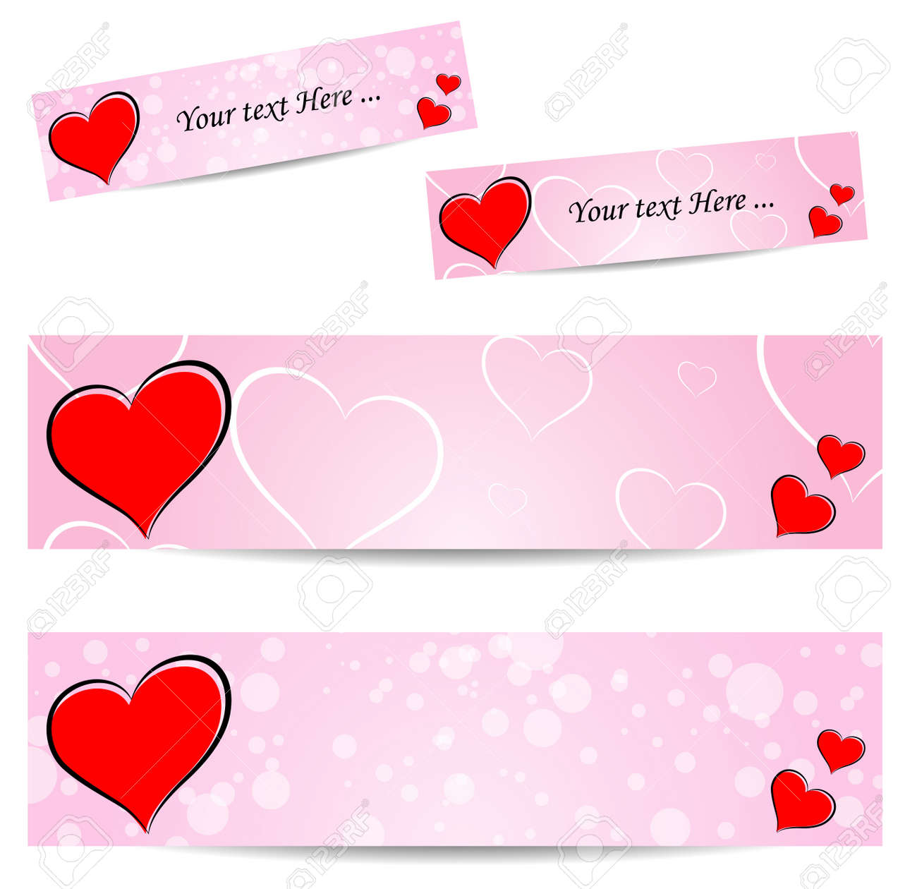 Love banner Stock Vector - 21423641
