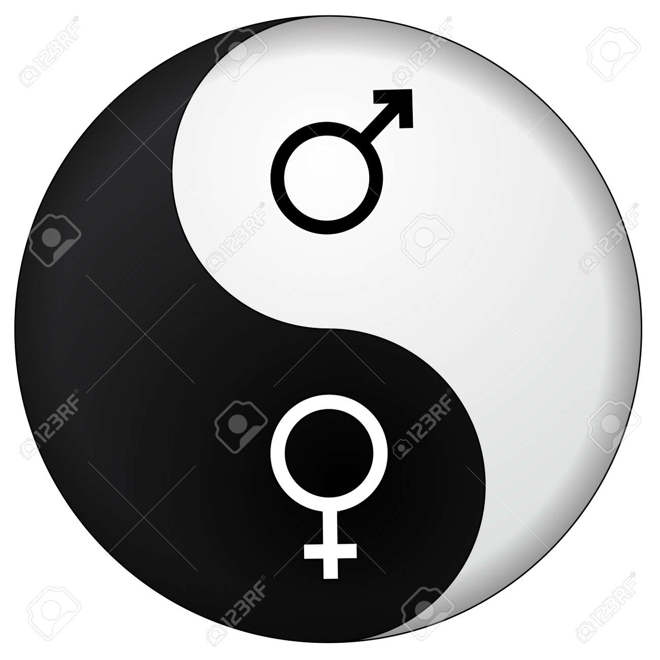 Yin Yang Male Female Royalty Free Cliparts Vectors And Stock