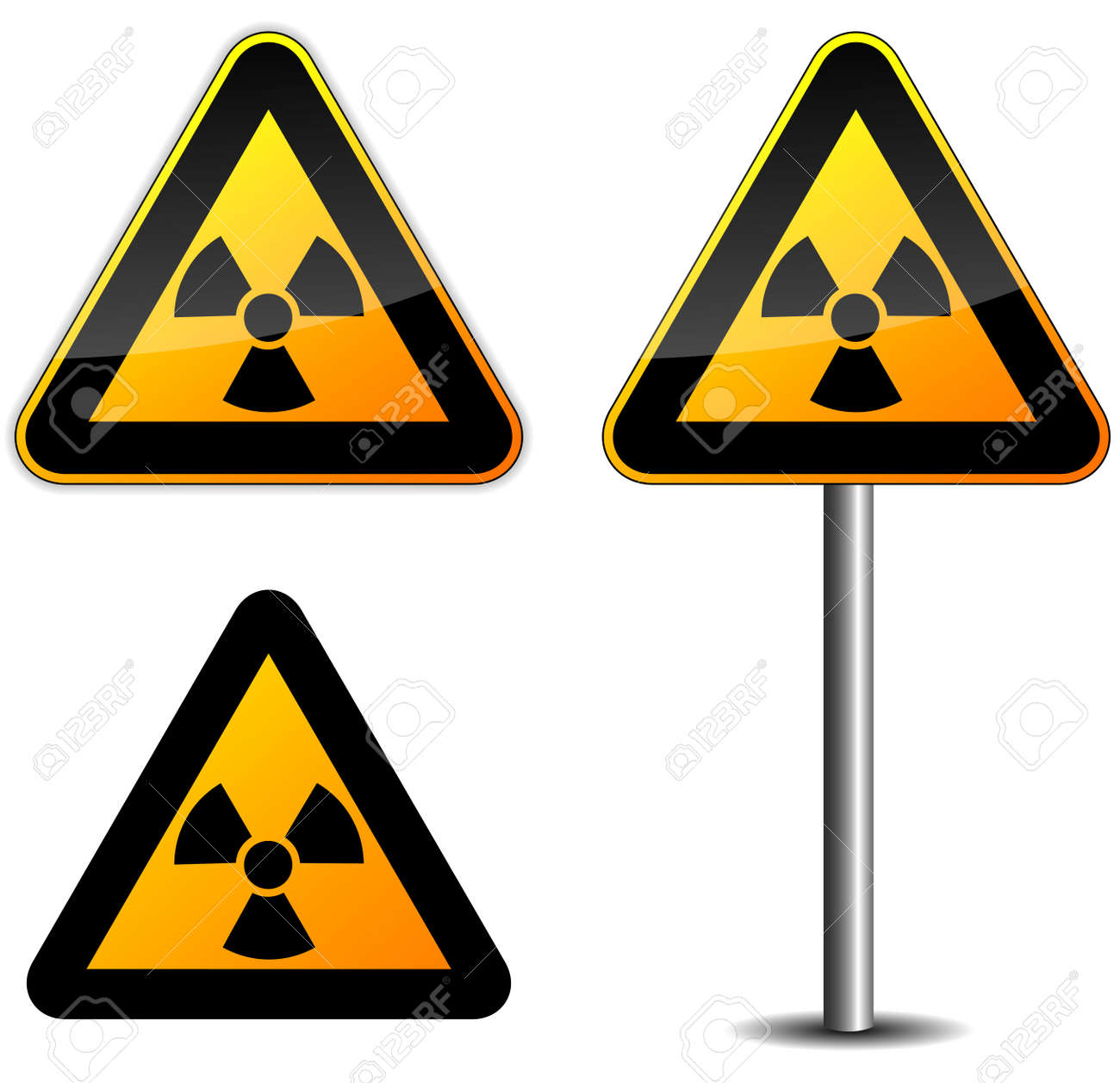 Illustration of radioactive sign on white background Stock Vector - 23945444