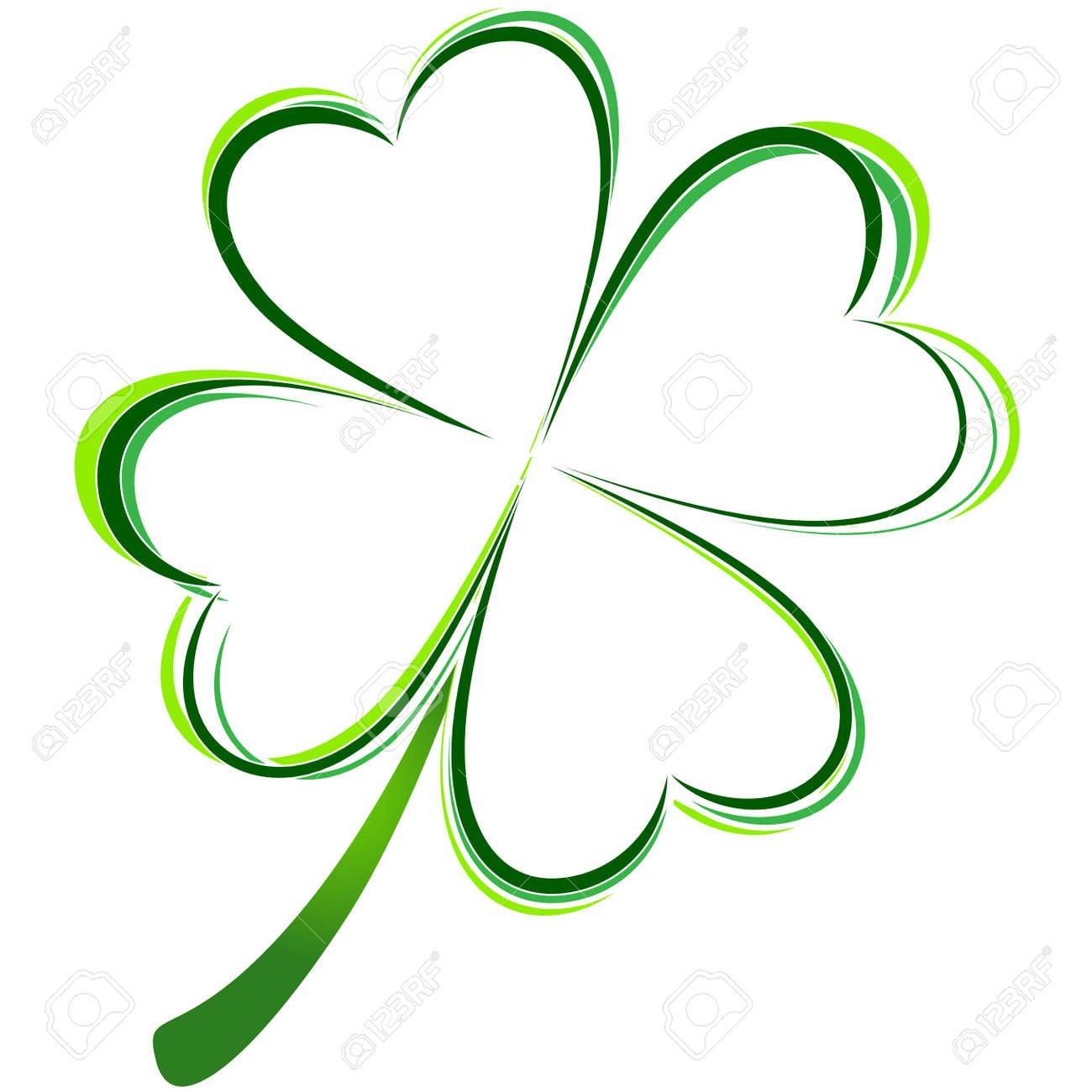 vector illustration of green clover picture royalty free cliparts