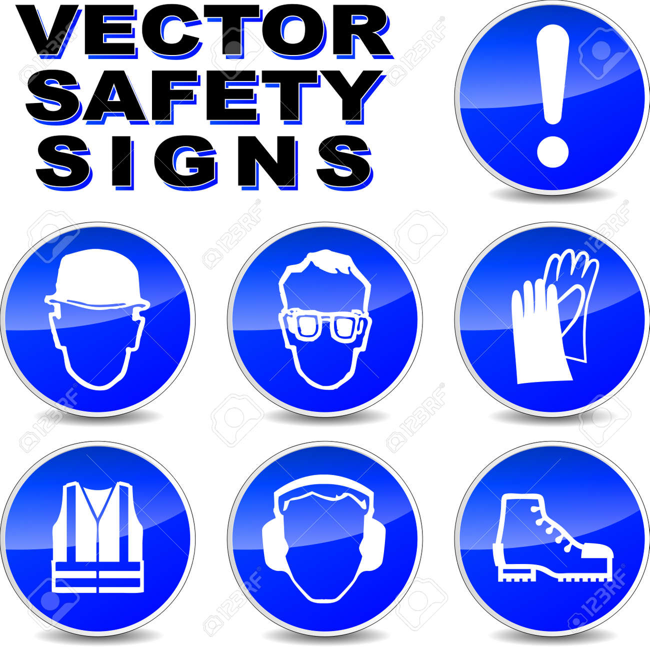 Safety Signs In The Laboratory Goggles