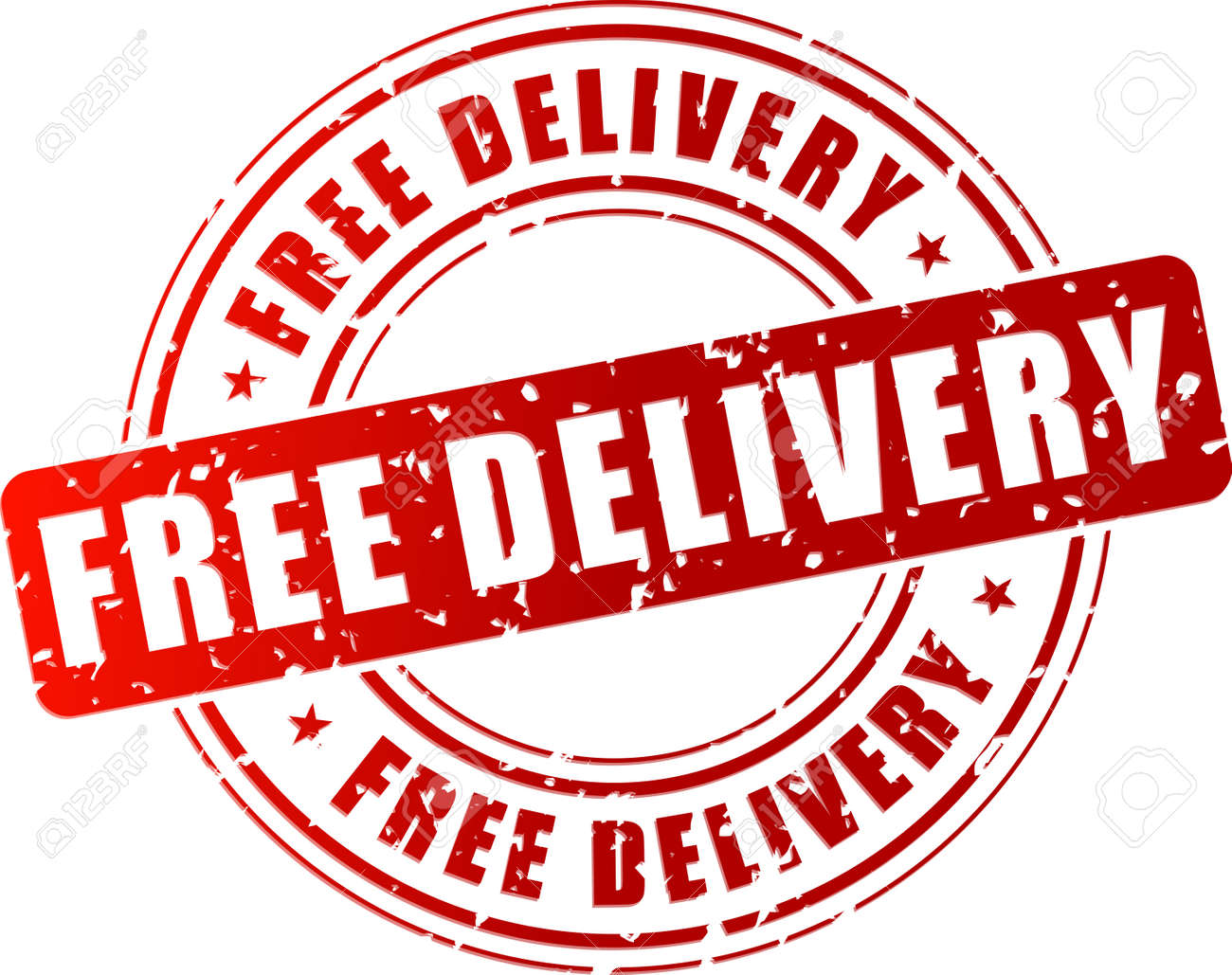 Vector - Vector illustration of free delivery stamp on white background 78b0a95cf22