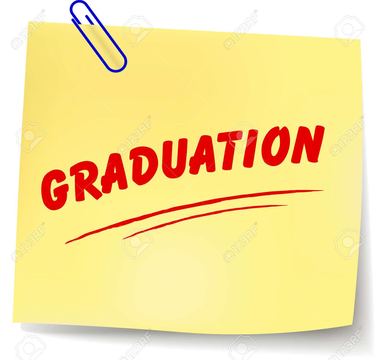 白い背景の上の卒業論文メッセージのベクトル イラストのイラスト素材