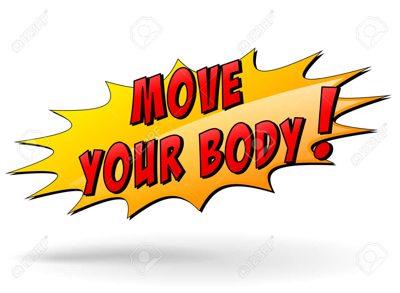 Vector Illustration Of Move Your Body Yellow Star Icon Concept Royalty Free Cliparts Vectors And Stock Illustration Image 31325344
