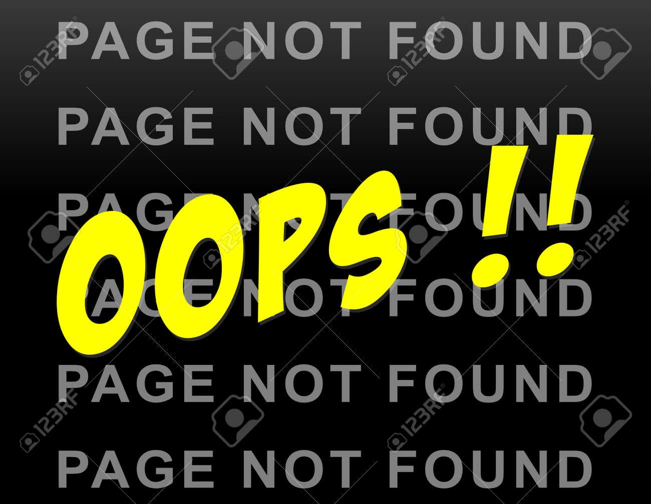 Illustration De La Page Non Trouvee Drole Site Web Background Clip Art Libres De Droits Vecteurs Et Illustration Image 35744289