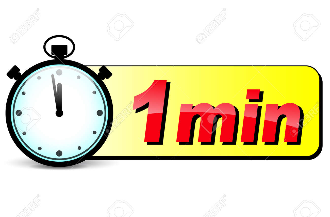 illustration of one minute stopwatch design icon royalty free