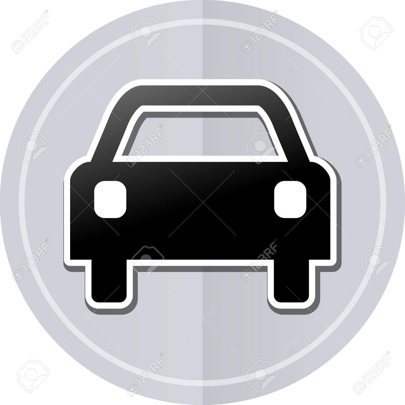 Simple car sticker design - Illustration Of Car Sticker Icon Simple Design Stock Vector 39757704
