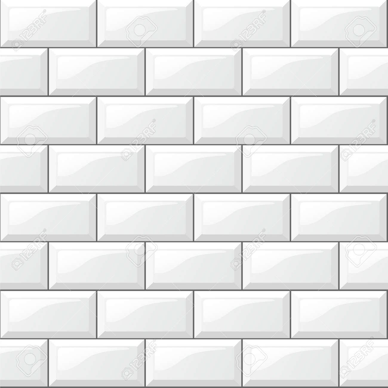 Illustration of rectangular horizontal white tiles background - 66275129
