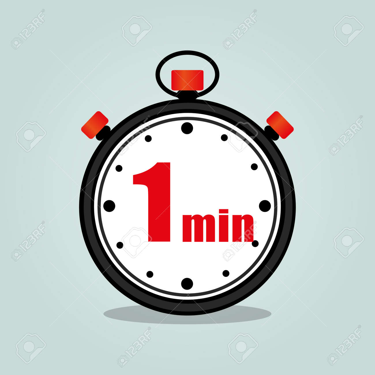 illustration of one minute stopwatch isolated icon royalty free