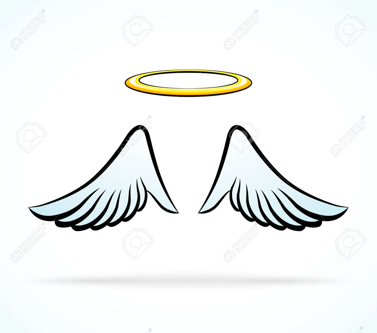 illustration of angel wings with aureole royalty free cliparts rh 123rf com free download vector angel wings angel wings vector png
