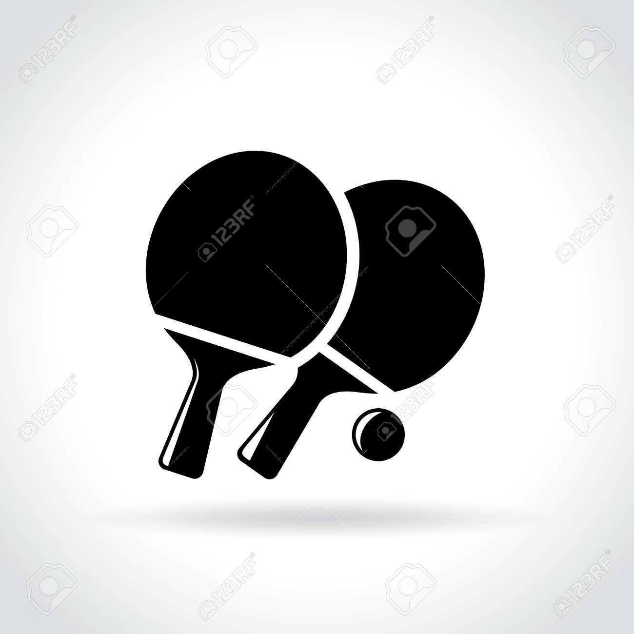 illustration of ping pong icon on white background royalty free