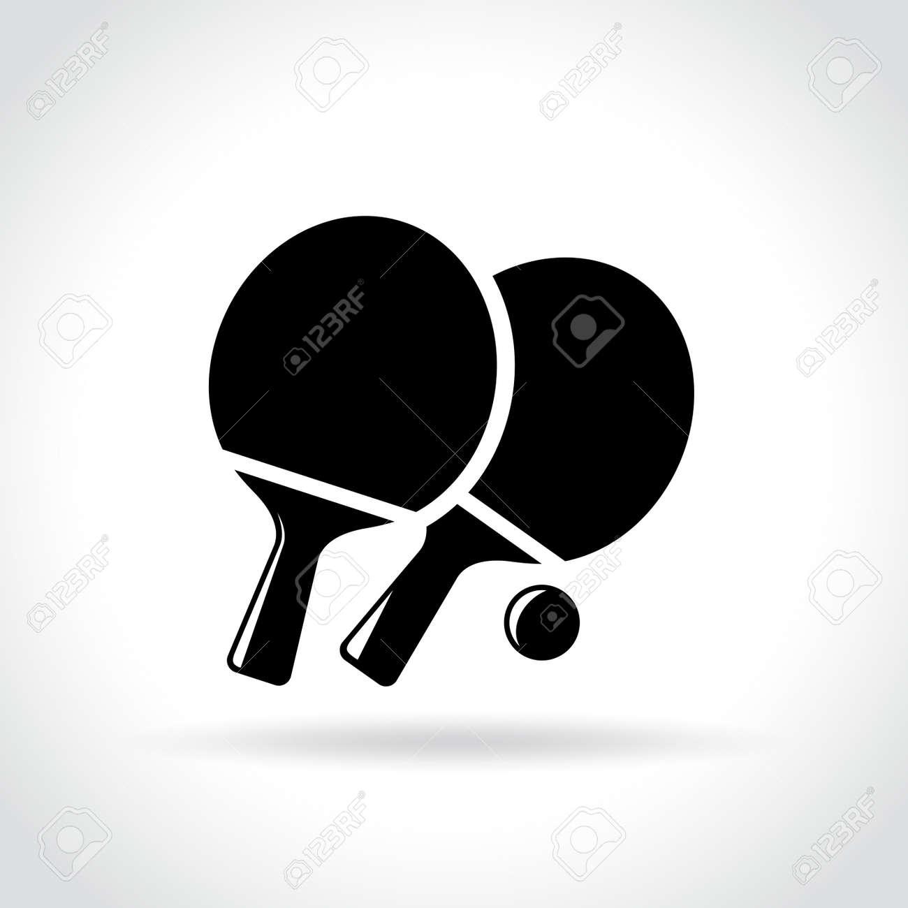 Ilustración Del Icono De Ping Pong En El Fondo Blanco Ilustraciones ...