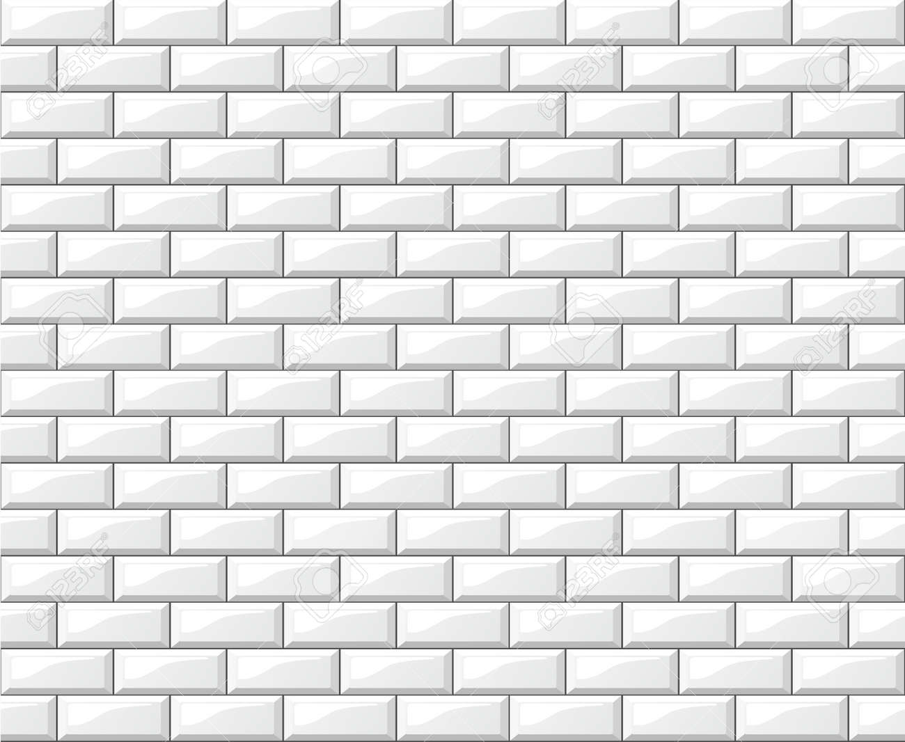 Illustration of white tiles wall background design - 101981833
